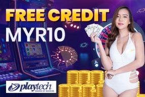 Playtech Free Credit RM10